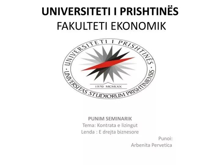 Gallery For > Punim Seminarik Universiteti Prishtine