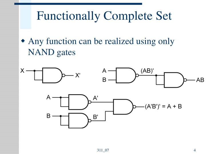 Building Other Gates With Nand And Nor Nand And Nor Gates Have A