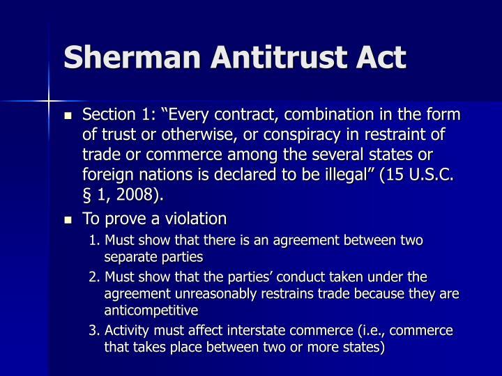 sherman antitrust act example