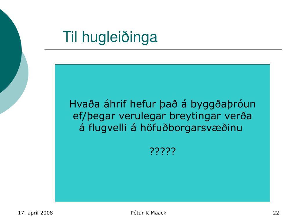PPT  Flug og byggarun PowerPoint Presentation  ID4478441