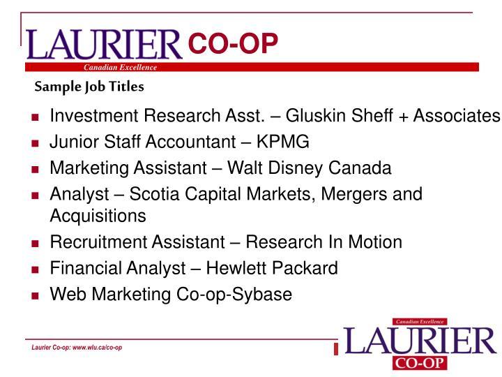 Resume Workshop Laurier - Resume Examples | Resume Template