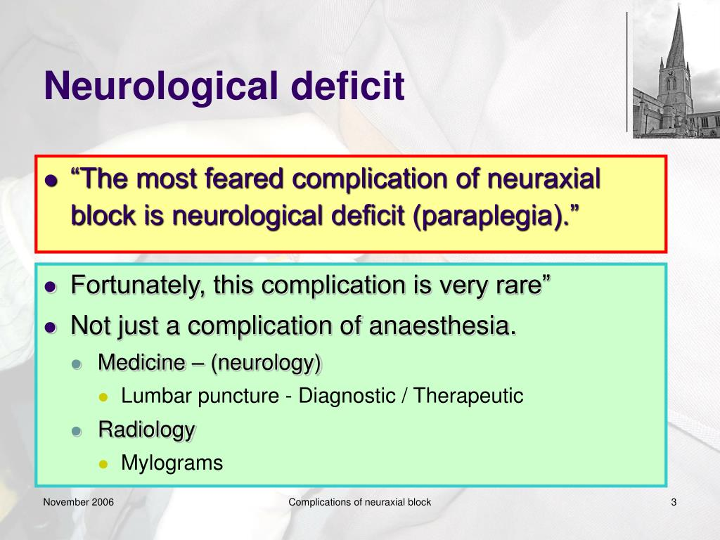 PPT - Complications of neuraxial block PowerPoint ...