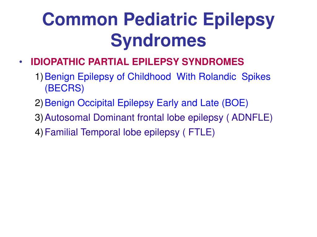 PPT - Pediatric Epilepsies PowerPoint Presentation free ...