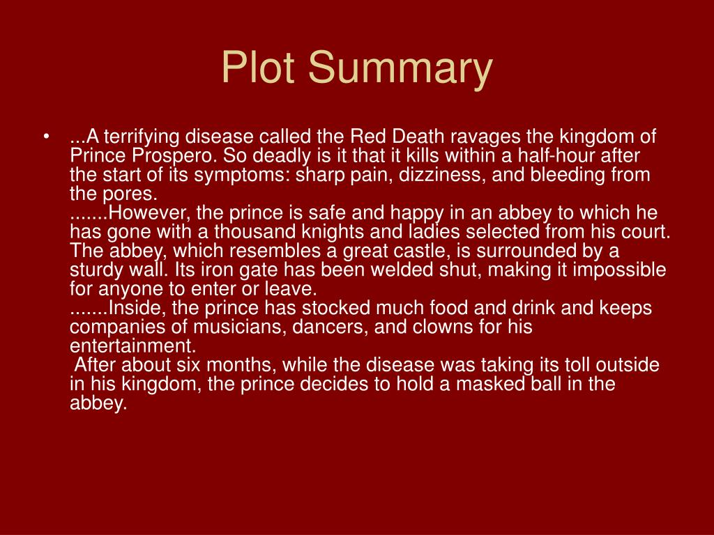The Masque Of The Red Summary