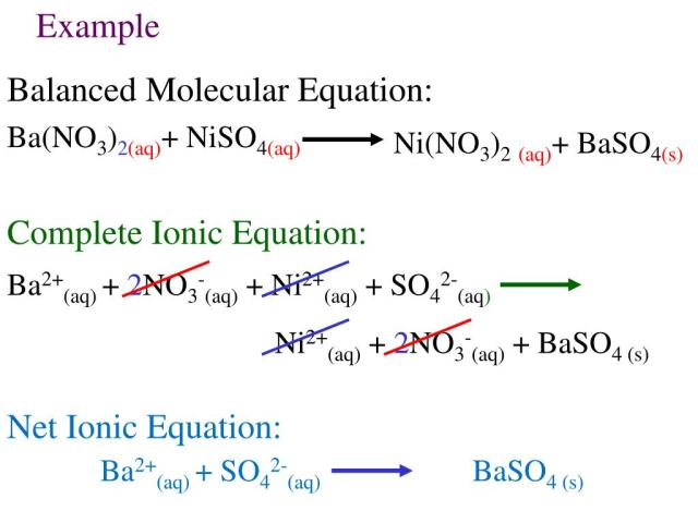 How To Do Net Ionic Equations Step By Step - slide share