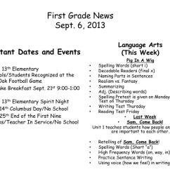 PPT - First Grade News Sept. 6  [ 768 x 1024 Pixel ]