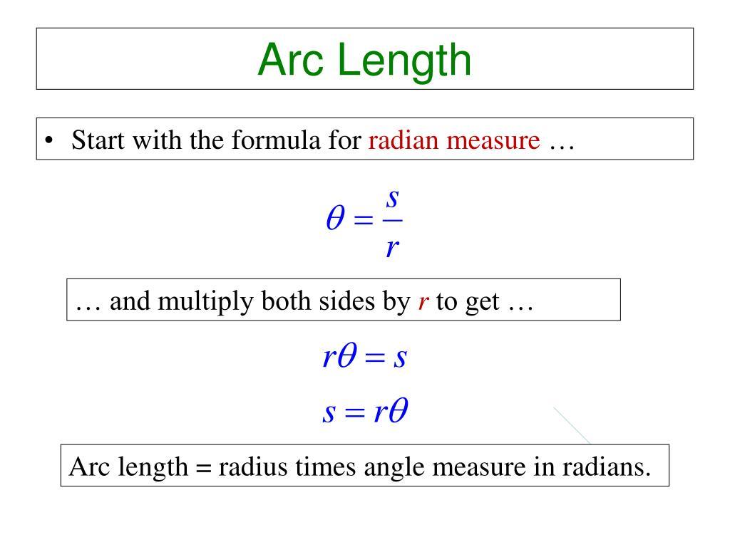 Circle Arc Length Formula Radians