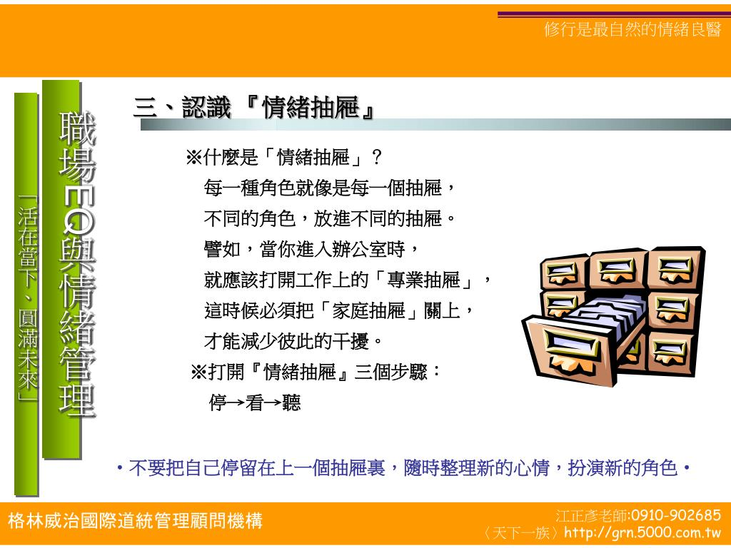 PPT - 職場 EQ 與情緒管理 PowerPoint Presentation - ID:4907838