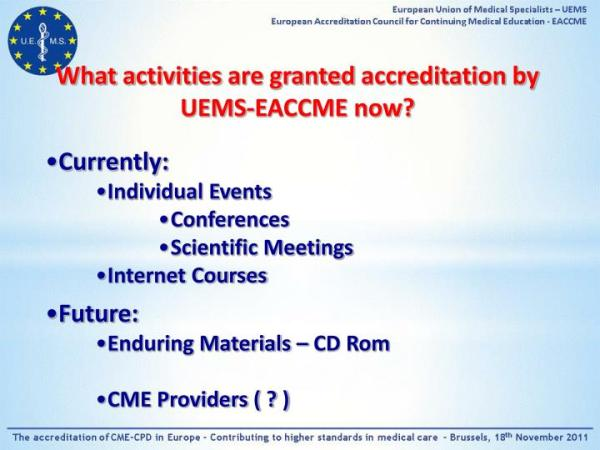 PPT - Continuing Medical Education system in Europe and ...