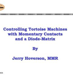 controlling tortoise machineswith momentary contacts and a diode matrix by jerry hoverson mmr [ 1024 x 768 Pixel ]