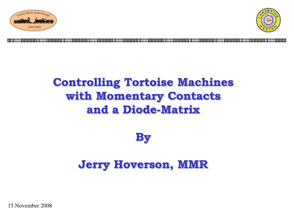 hight resolution of controlling tortoise machineswith momentary contacts and a diode matrix by jerry hoverson mmr