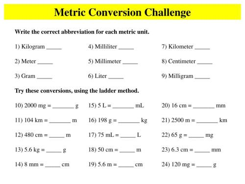 small resolution of Gram Kilogram Conversion Worksheet   Printable Worksheets and Activities  for Teachers