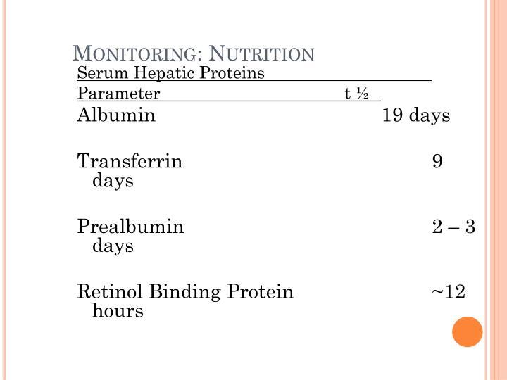 PPT - PARENTERAL NUTRITION FORMULA CALCULATIONS AND MONITORING PROTOCOLS PowerPoint Presentation - ID:5085026