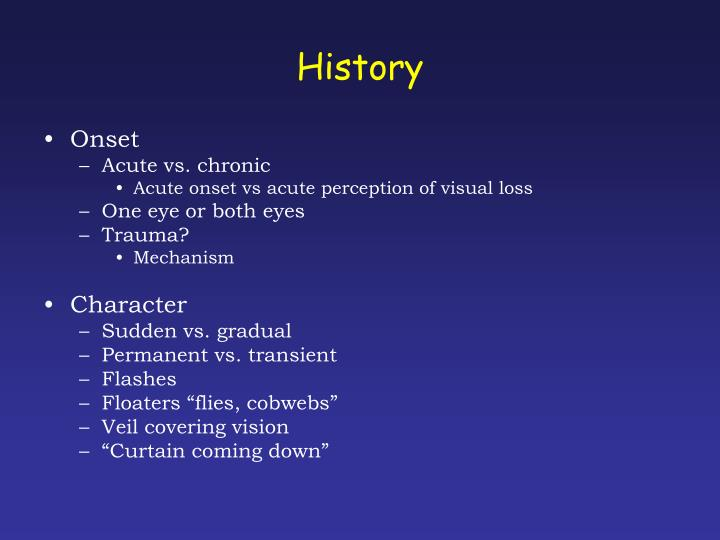 PPT - Back to Basics Ophthalmology: Acute visual ...