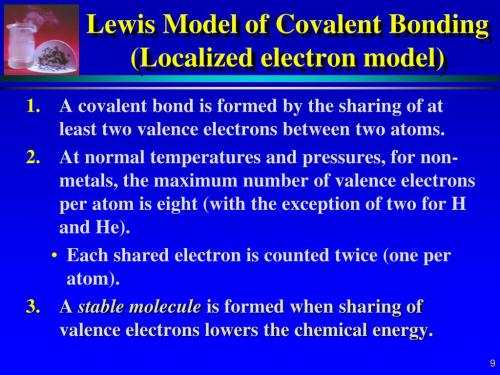 small resolution of lewis model of covalent bonding localized electron model