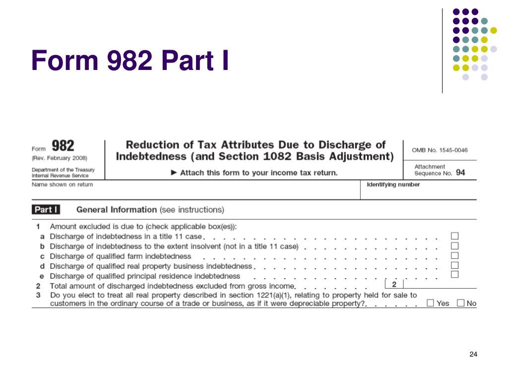 Form 982 Credit Card Debt Cancellation