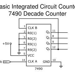 basic integrated circuit counter7490 decade counter [ 1024 x 768 Pixel ]