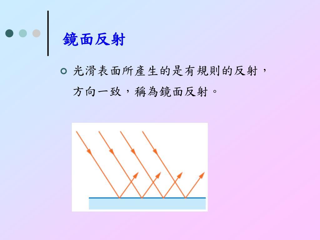 PPT - 5-1 光的反射及面鏡成像 5-2 光的折射及透鏡成像 5-3 光的色散現象 PowerPoint Presentation - ID:5219676