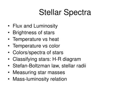small resolution of  color colors spectra of stars classifying stars h r diagram stefan boltzman law stellar radii measuring star masses mass luminosity relation