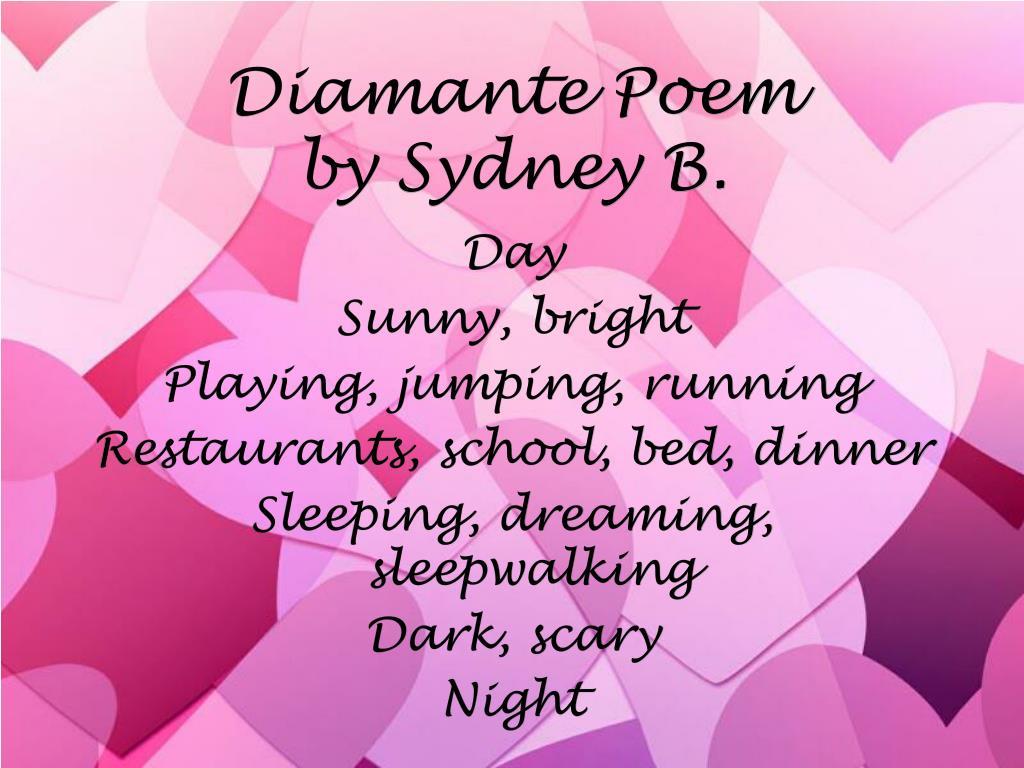 Diamante Poems For Kids