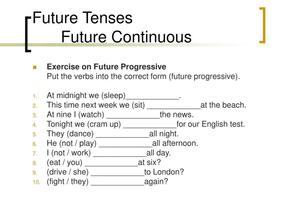 medium resolution of PPT - FUTURE TENSES PowerPoint Presentation
