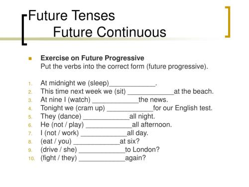 small resolution of PPT - FUTURE TENSES PowerPoint Presentation