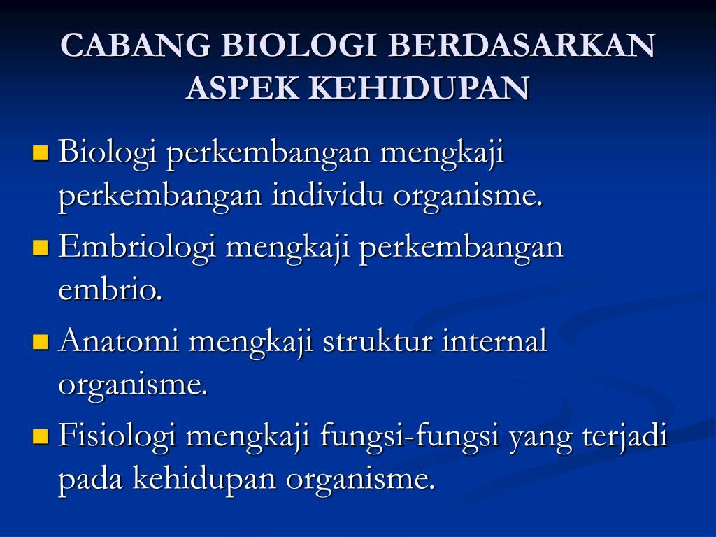 Dengan taksonomi dapat diketahui jenis tumbuhan yang … PPT - Ruang Lingkup Biologi PowerPoint Presentation, free