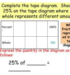 complete the tape diagram shade in 25 on the tape diagram  [ 1024 x 768 Pixel ]