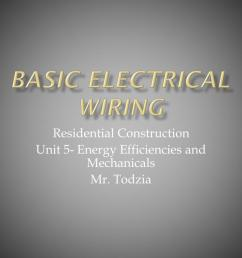 basic electrical wiring powerpoint ppt presentation [ 1024 x 768 Pixel ]