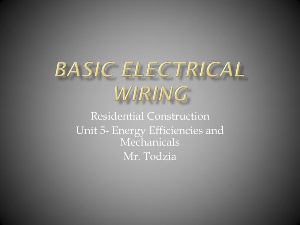 medium resolution of basic electrical wiring powerpoint ppt presentation