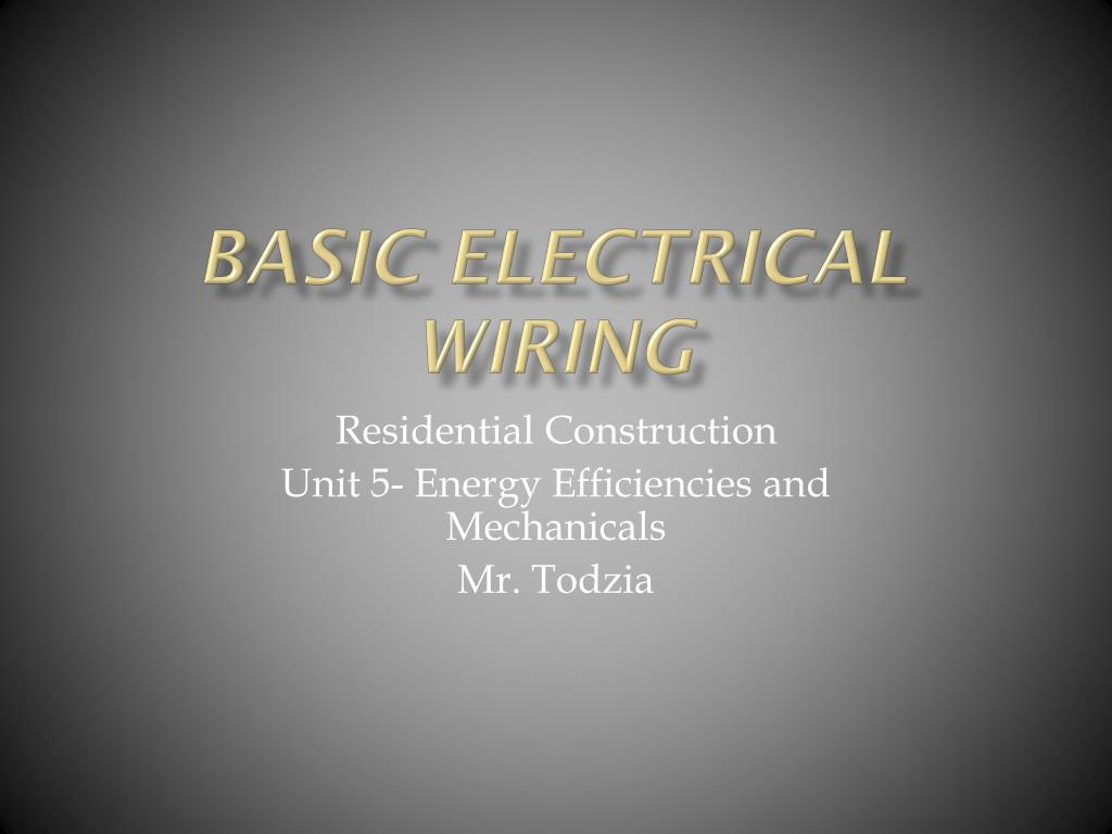 hight resolution of basic electrical wiring powerpoint ppt presentation