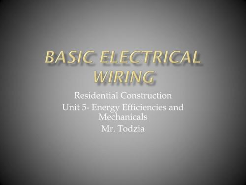 small resolution of basic electrical wiring powerpoint ppt presentation