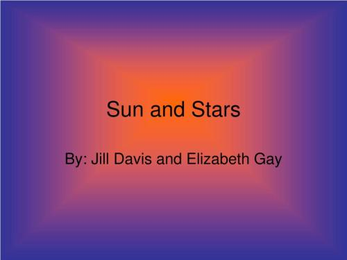small resolution of sun and stars by jill davis and elizabeth gay