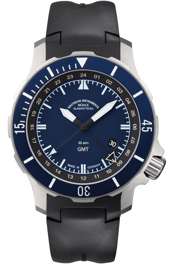 格拉苏蒂·莫勒Muehle·Glashuette-Nautical Wristwatches系列 M1-28-62-KB 机械男表
