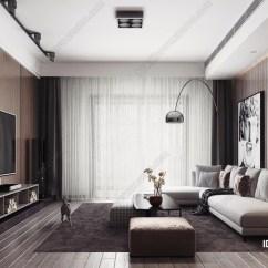 Modern Kitchen Rugs Drop Ceiling Lighting 现代客厅餐厅厨房沙发窗帘电视茶几地毯电视柜吊灯餐桌椅 知末案例馆 现代厨房地毯