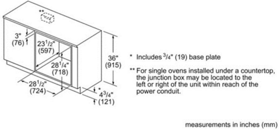 Bosch HBL8461UC 30 Inch Black Single Wall Oven