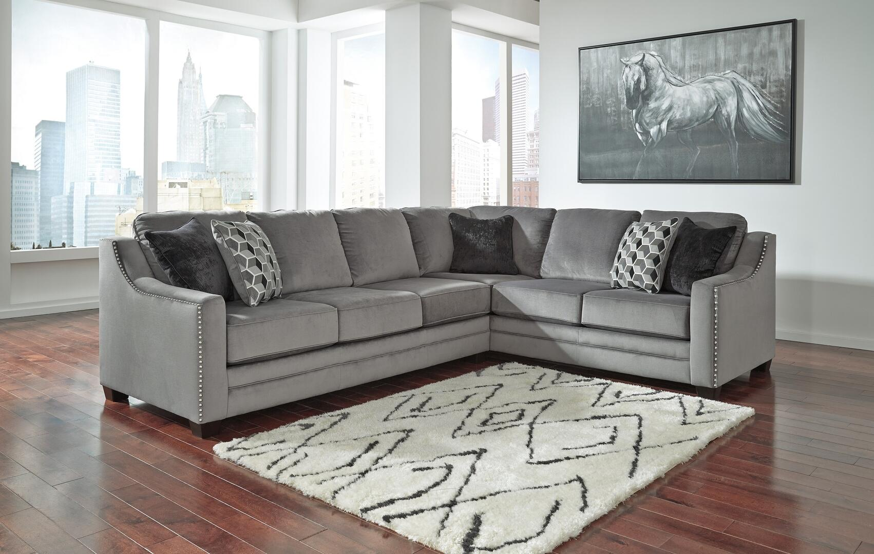 miramar leather sofa marco gray chaise by factory outlet reviews signature design ashley 8620466449 bicknell series