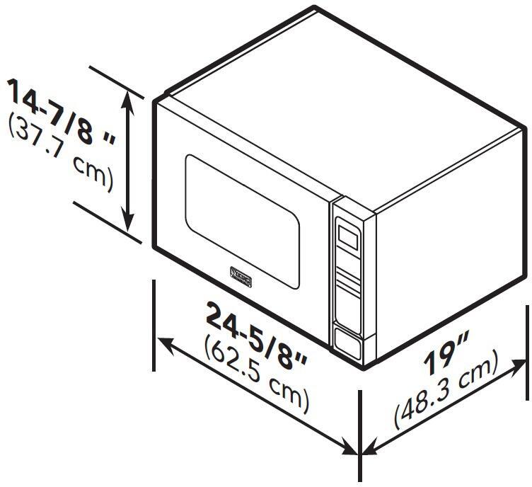 Viking VMOC206SS Stainless Steel Countertop Microwave