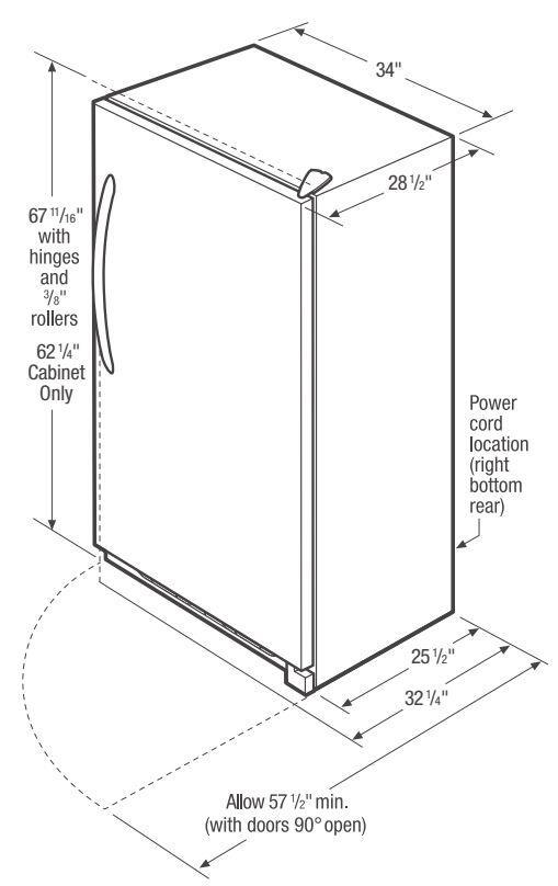 Frigidaire FFRU17B2QW 34 Inch All Refrigerator with 16.6