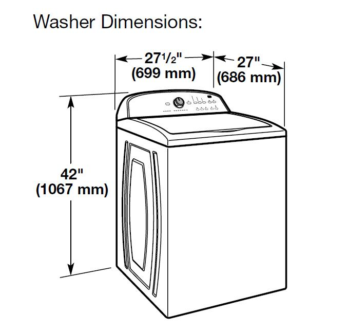 Maytag MVWC565FW 28 Inch White 4.2 cu. ft. Top Load Washer