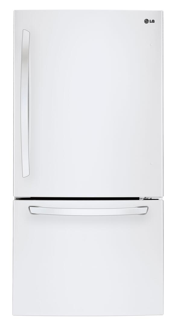 LG LDCS24223W 33 Inch Smooth White Bottom Freezer