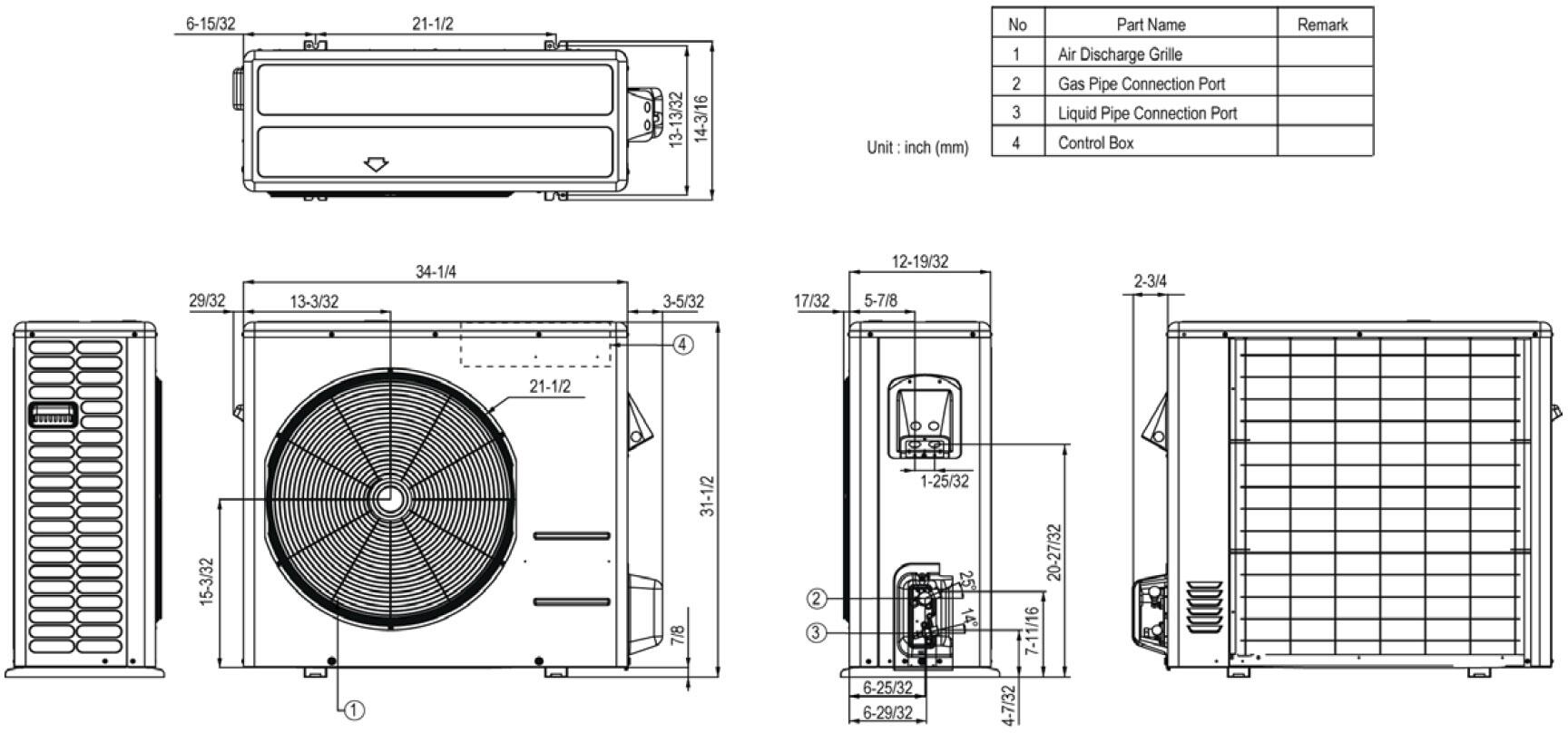 LG LS303HLV Air Conditioner Cooling Area, Adjustable Air