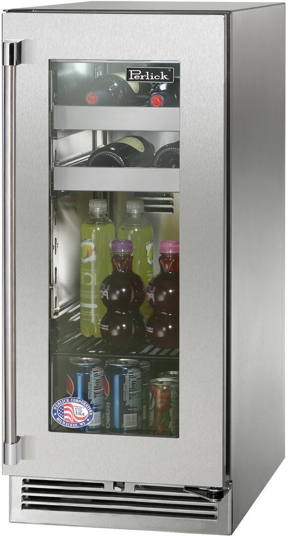 Perlick HP15BO33R 15 Inch Freestanding Beverage Center