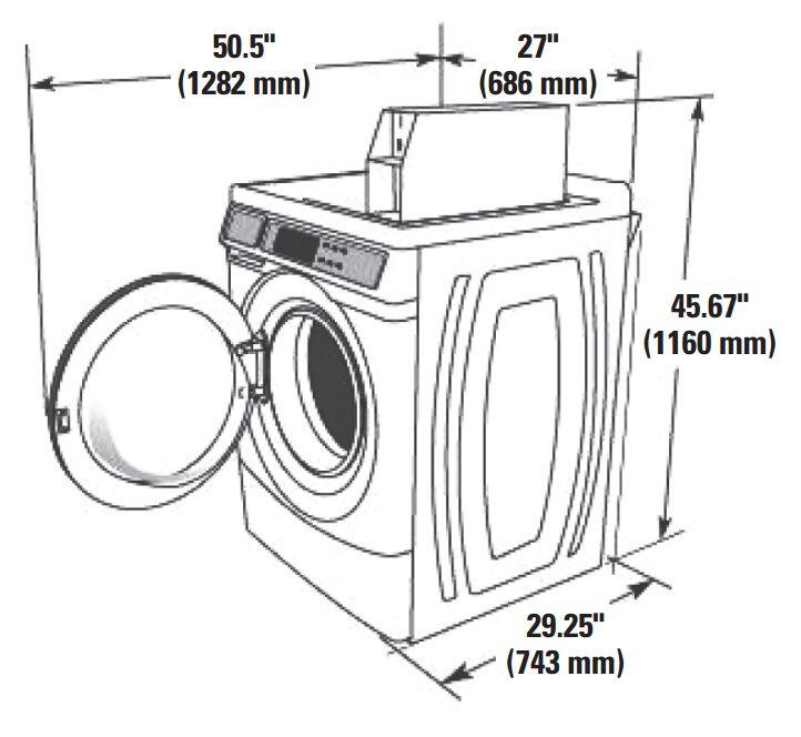 Whirlpool CHW8990CW 27 Inch 3.1 cu. ft. Front Load Washer