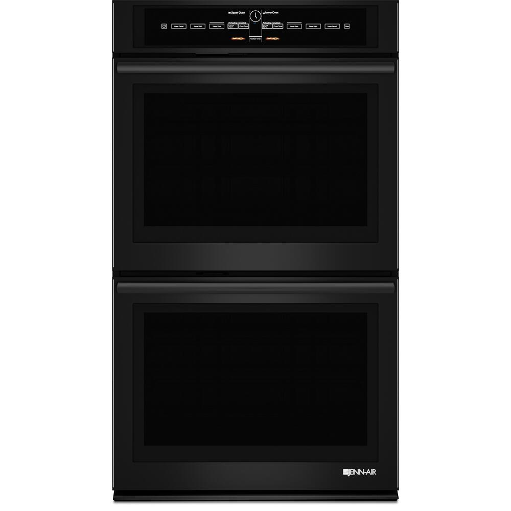 hight resolution of jenn air jjw3830db black floating glass 30 inch double wall oven