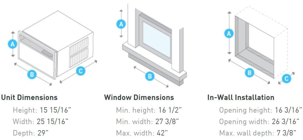 Friedrich SS10N10B Window or Wall Air Conditioner Cooling