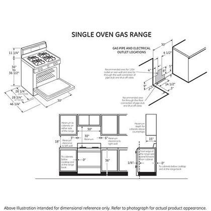 GE JGBS66DEKBB 30 Inch Gas Freestanding Range, in Black