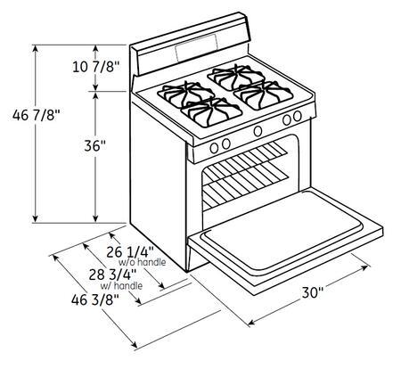 Hotpoint RGB530DEHWW 30 Inch Freestanding Gas Range with 4