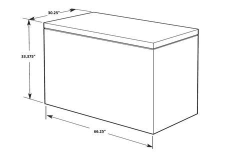 Amana AZC31T22DW 66.25 Inch Chest Freezer with 21.7 cu. ft