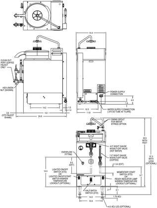 Bunn-O-Matic 063250002 14 Inch Countertop Coffee and Tea